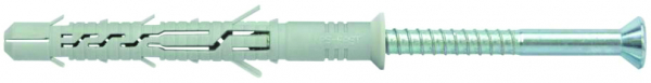 Heavy duty screwed nylon plug