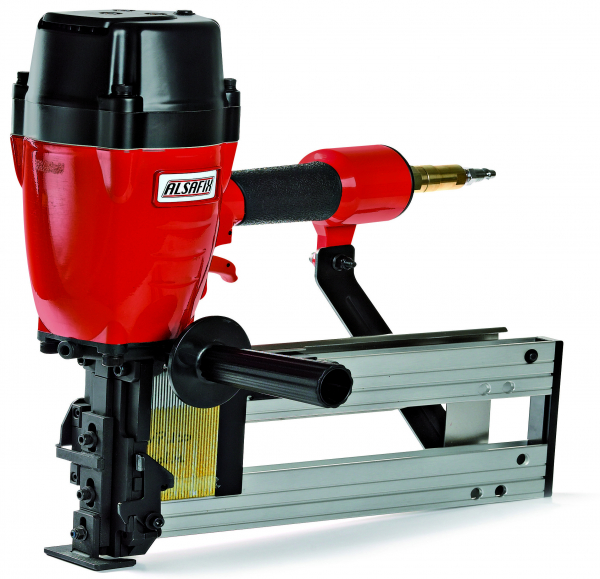 Pneumatic staplers for wide staples
