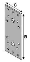 Flat connectors 135x55x3,0