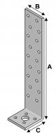 Concrete Bracket 200x40x40x2,0