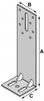 Insulation bracket H.180 mm
