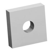 Reinforced plate 40x40x10