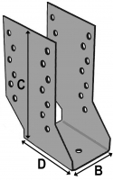 Cantilever Joist Hanger 76x182